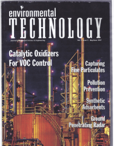 Environmental Technology Cover Article